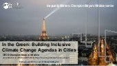 Building Inclusive Climate Change Agendas in Cities