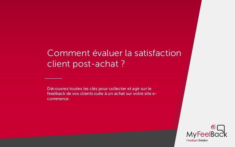 Comment  U00e9valuer La Satisfaction Client Post