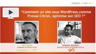 Comment un site sous word press, comme Presse-Citron, peut optimiser son seo