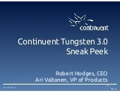 Sneak Peek: Continuent Tungsten 3.0