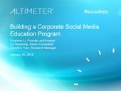 [Webinar] Building a Corporate Social Media Education Program, with Charlene Li and Ed Terpening