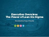 WEBINAR: Executive Overview: The Power of Lean Six Sigma