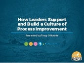 WEBINAR: How Leaders Support and Build a Culture of Process Improvement
