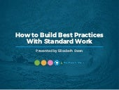 WEBINAR: How to Build Best Practices With Standard Work