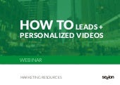 Webinar how to engage with your landing pages leads with personalized videos