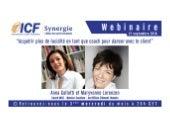 """ICF Synergie : """"Acquérir plus de lucidité en tant que coach"""" d'Anna Gallotti et Maryvonne Lorenzen - SLIDEs"""