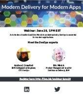 Webinar : Modern Delivery for Modern Apps