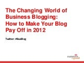 The Changing World of Business Blogging