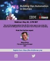 Webinar : Building Ops Automation in DevOps