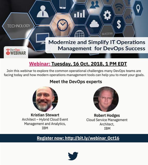 Webinar : Modernize and Simplify IT Operations Management for DevOps Success