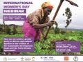 SDGs and the Paris climate agreement: Achieving gender parity in African agricultural systems Webinar Presentations.
