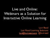 Webinars as a Solution for Interactive Live Online Learning