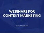 Webinars for Content Marketing