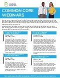 Common Core Webinar Series