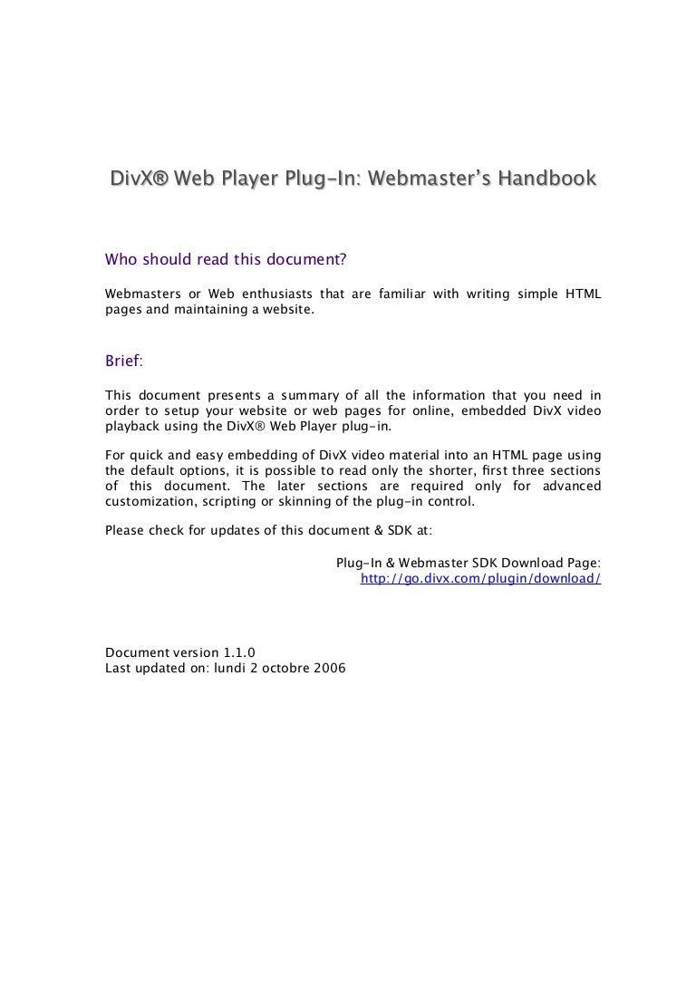 Webmasters handbook.