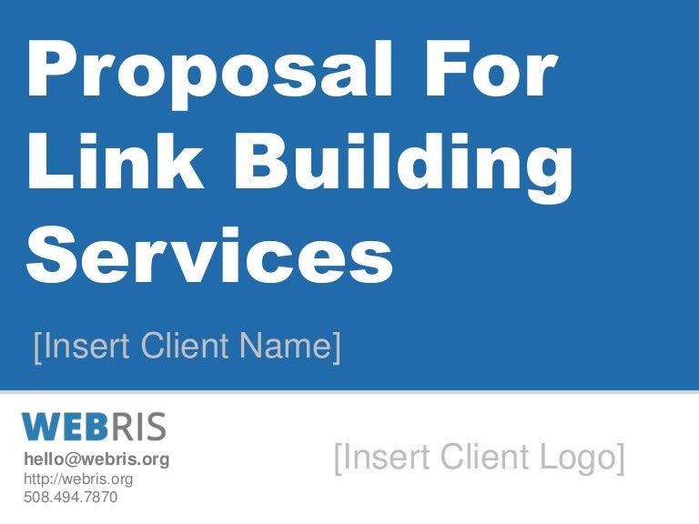 Webris White Hat Link Building Proposal Template