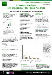 A Content Analysis: How Wikipedia Talk Pages Are Used (WebSci2010 poster)
