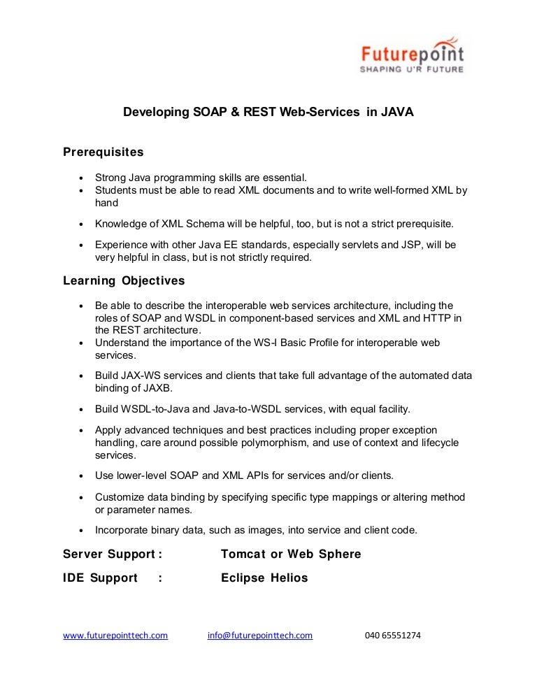 Web services soap rest training