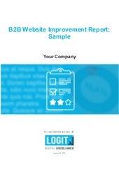 B2B Website Improvement Report: Sample