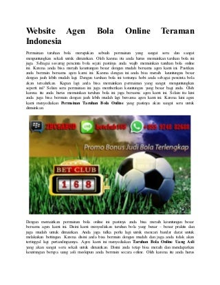 Website agen bola online teraman indonesia
