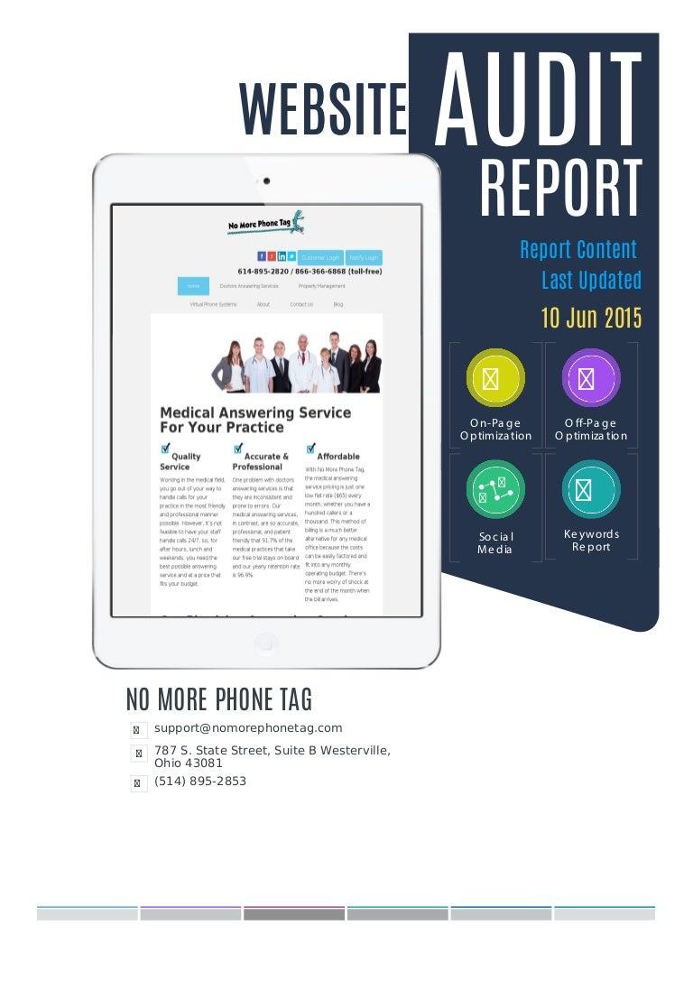 Website Audit Report Sample