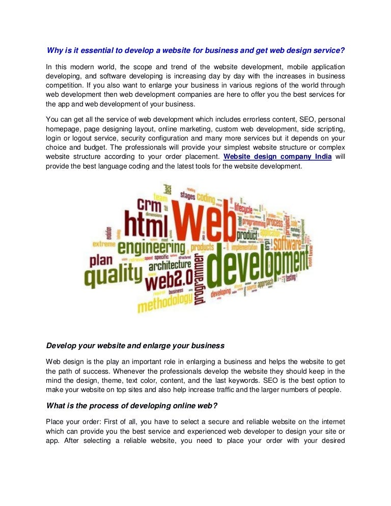 Why Is It Essential To Develop A Website For Business And Get Web Des