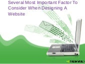 Several Most Important Factor to Consider When Designing a Website