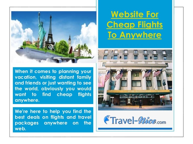 Website for cheap flights to anywhere