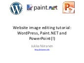 Website image editing tutorial: WordPress, Paint.NET and PowerPoint(!)