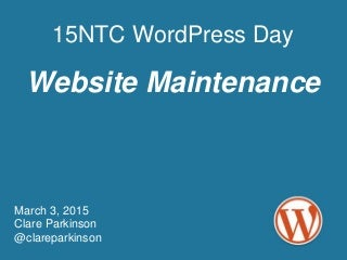 Website maintenance: keeping your WordPress site updated and safe