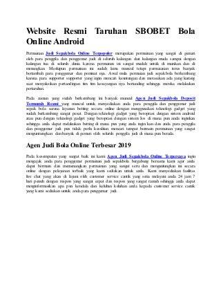 Website resmi taruhan sbobet bola online android