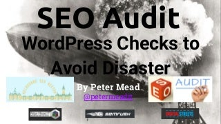 Website SEO Audit WordPress Checks
