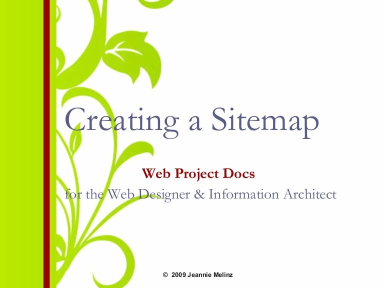 Creating a Website Sitemap
