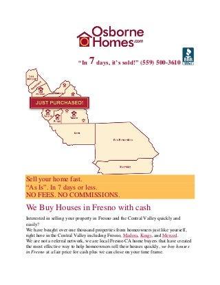 We buy houses in fresno - Osborne Homes