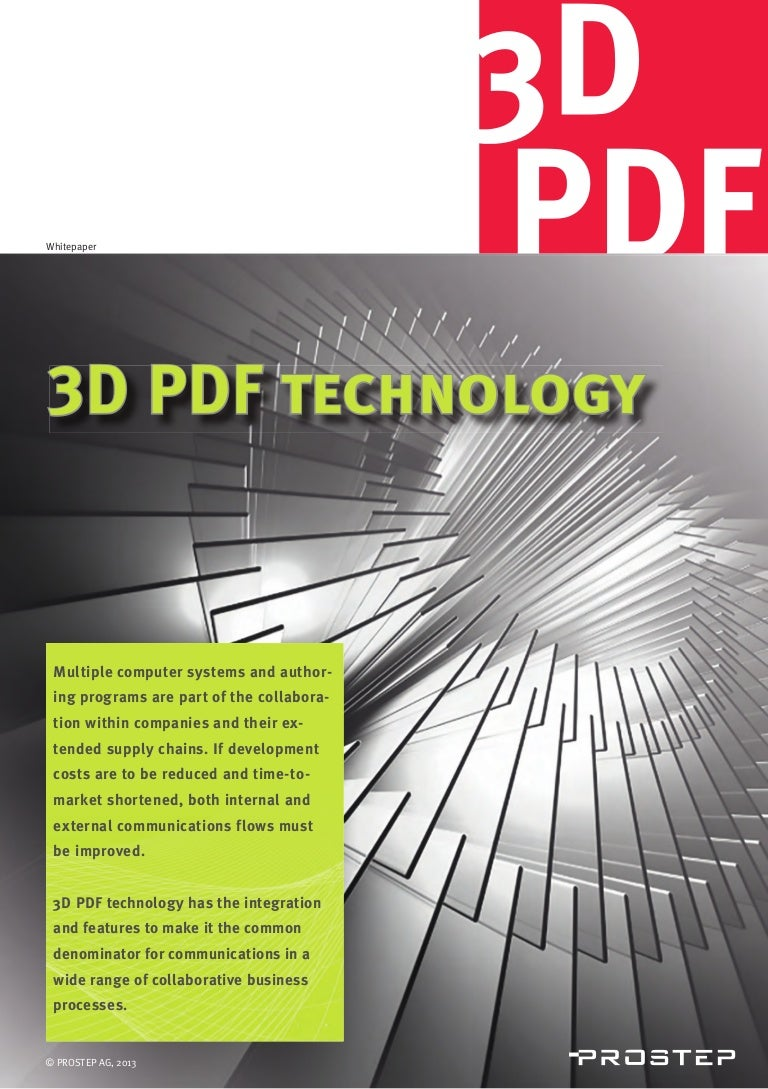 3d pdf technology from prostep
