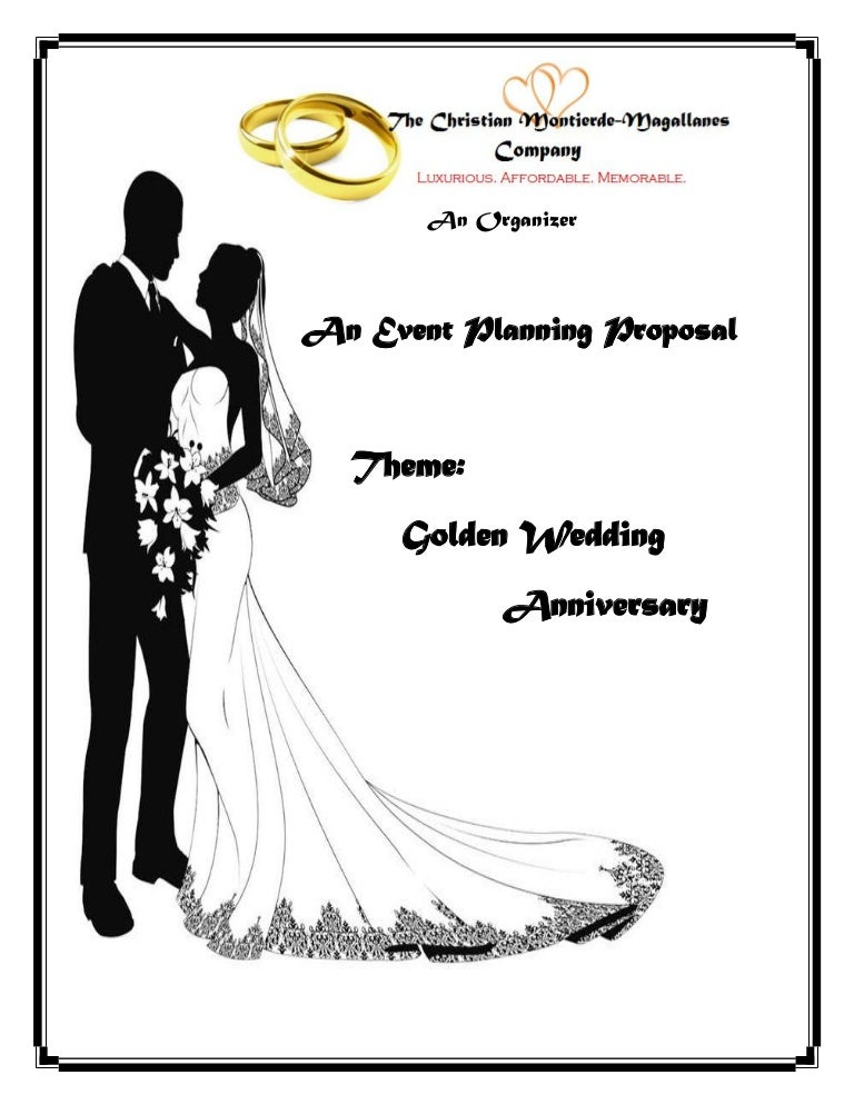 An Event Proposal Wedding Anniversary Proposal