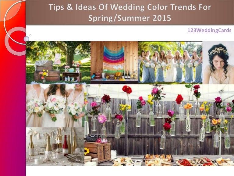 Spring Summer Wedding Color Ideas 2015