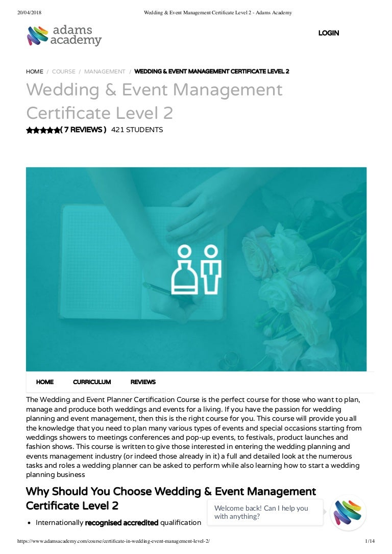 certificate management event academy level