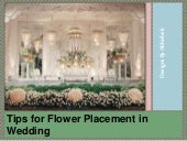 Tips for Flower Placement in Wedding