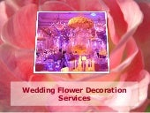Wedding Flower Decoration Services
