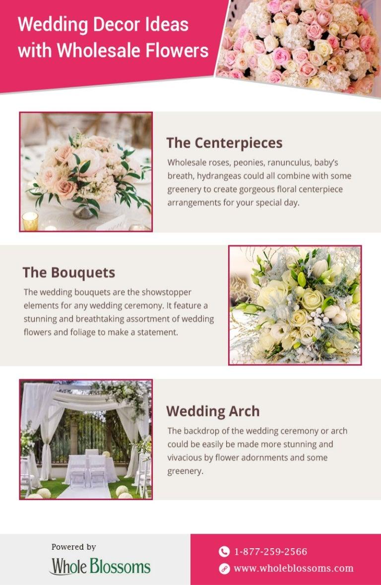 Create Beautiful Arrangements With Wholesale Wedding Flowers