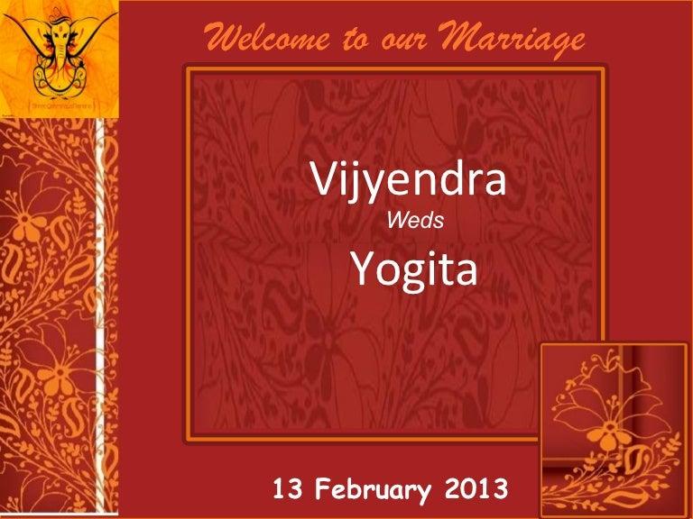 Wedding invitation vijyendra yogita 13 feb 2013 stopboris Choice Image