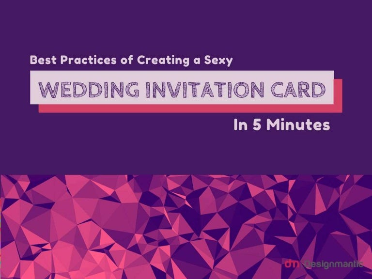 Best practices of creating a sexy wedding invitation card design in 5 stopboris Choice Image
