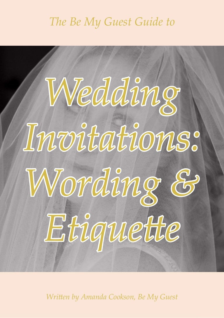 Wedding invitation wording and etiquette guide stopboris Choice Image