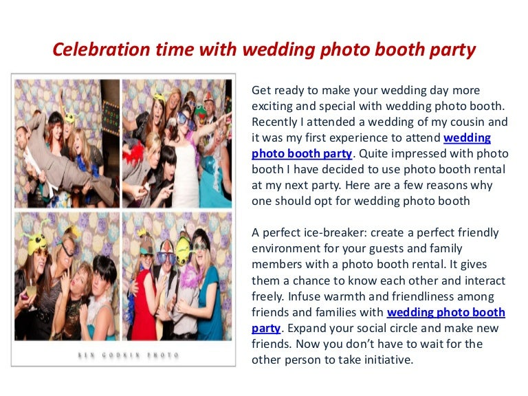 Best Photo Booth App For Wedding