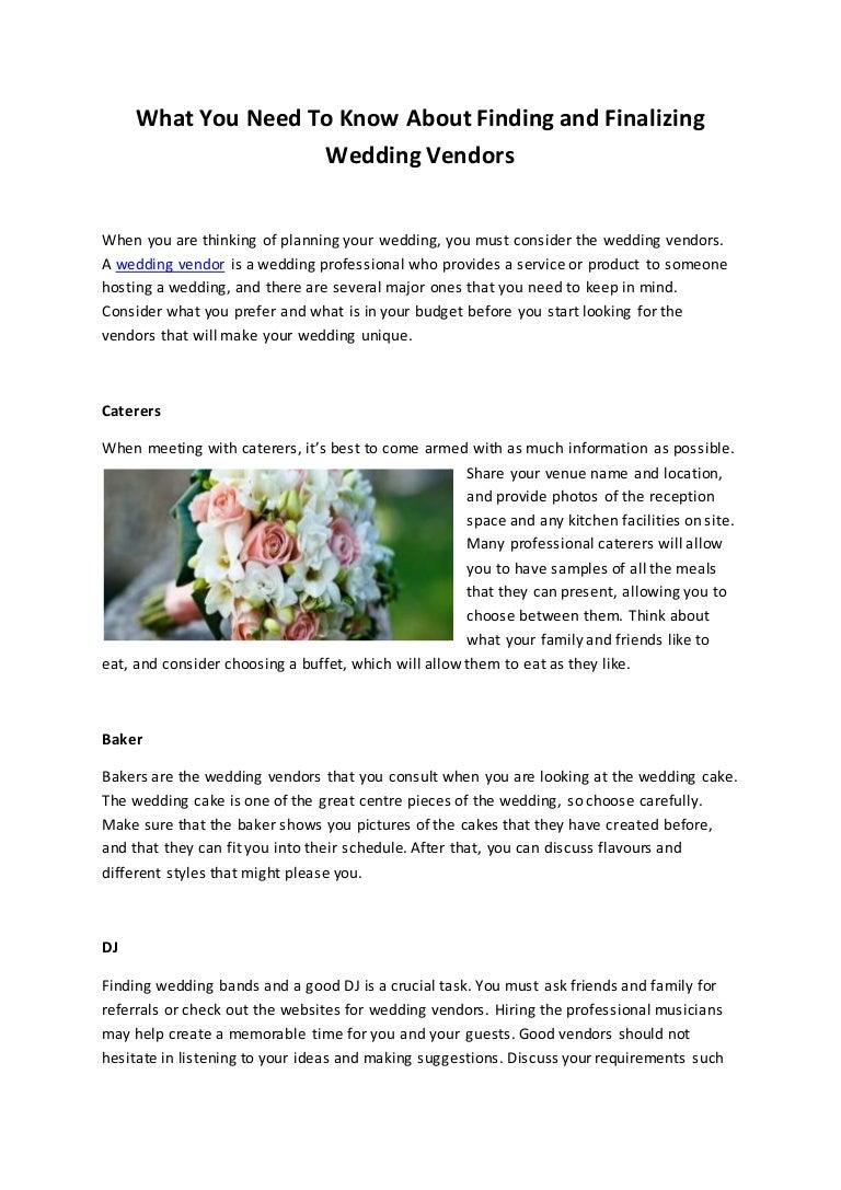 Wedding Vendors Nyc