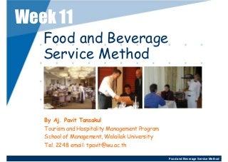 Week 11 - 12 Food And Beverage Service Method 3-2552