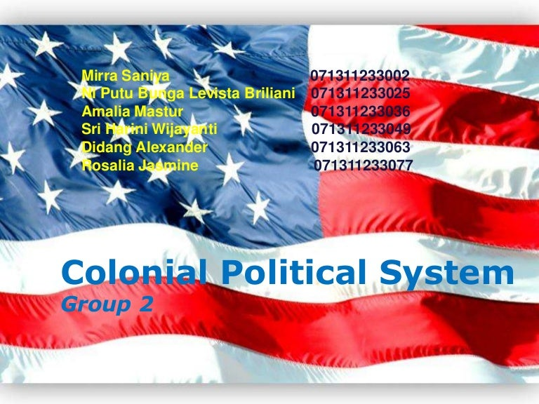 Week 2 colonial political system toneelgroepblik Image collections