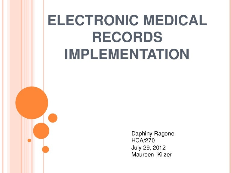 electronic record implementation essay Printing electronic records to paper to keep on a registered file in your physical record keeping system cannot be a preferred option nhs national services scotland has developed guidelines for nhs divisions on both the development and implementation of a business classification scheme on.