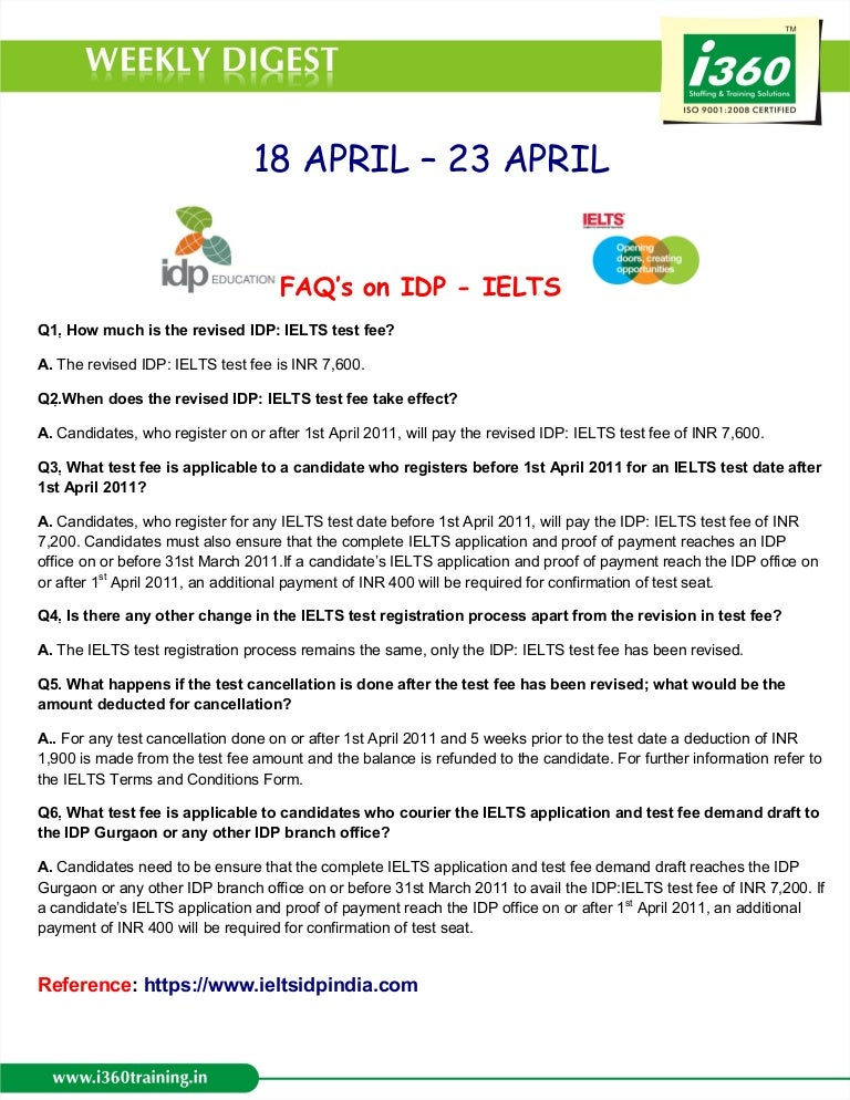 I360 Weekly digest 18 april to 23 april